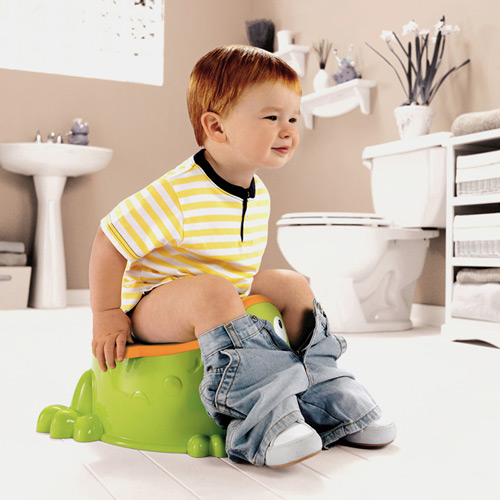Para aqueles que já usam o peniquinho, basta colocar o coletor descartável, que fica preso ao assento. Foto Reprodução