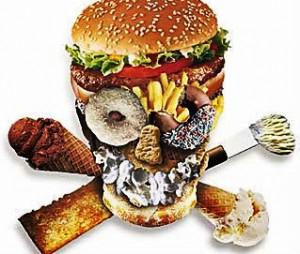 Não coma alimentos ruins, prefira os saudáveis.