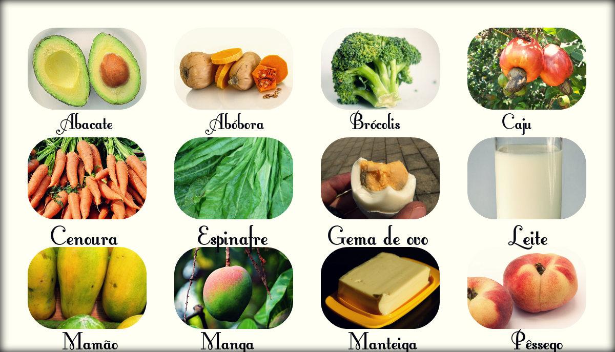 Vitamina A: fontes, funções e IDR