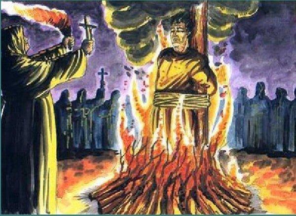 A fogueira era somente uma das maneiras que eles possuiam de fazer com que os ereges pagassem pelo o seu erro.