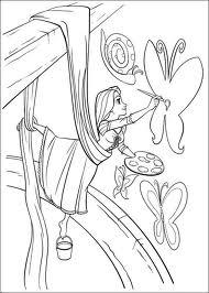 Desenho da Rapunzel para imprimir