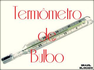 Representação de um termômetro de bulbo