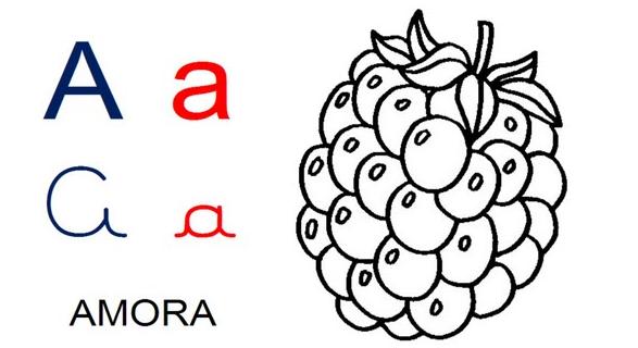 Ensine ao seu filho, quais são os estilos de frutas e como se escreve.