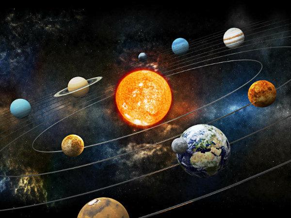 O Sistema solar possui diversos componentes.