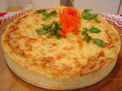 Torta de legumes  liquidificador