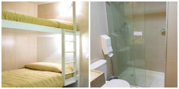 Os quartos não são grandes porém são de grande serventia para o descanso.