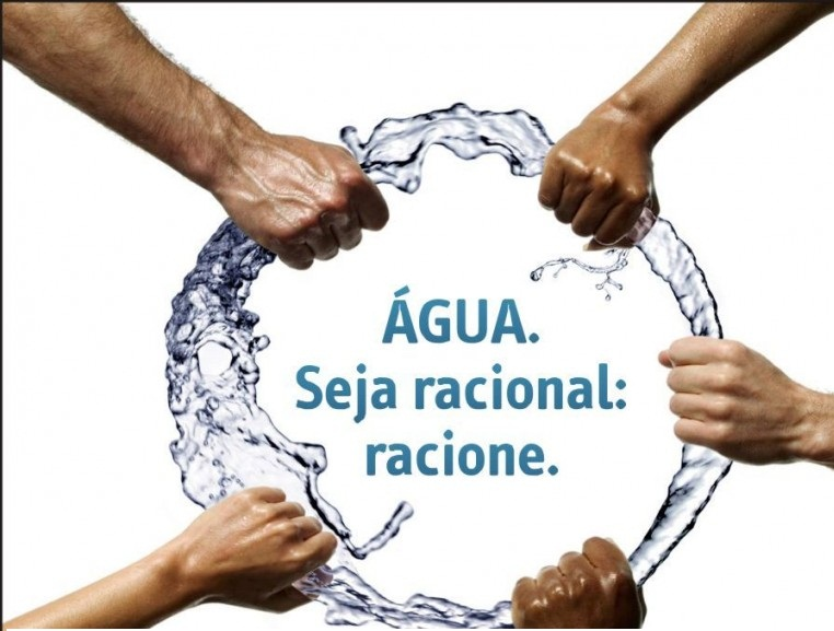 Economize água, você também. Salve o seu fututo e o de quem, você quer bem.
