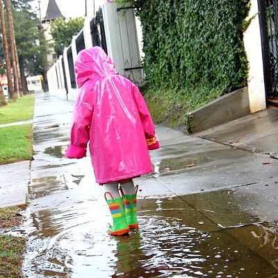 A  capa de chuva é interessante principalmente para as crianças.