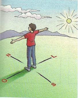 Preste bem atenção, quando você estiver acordando. Assim, saberá de onde vem o sol.