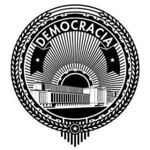 A democracia é a voz do povo.