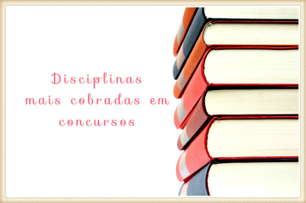 Estude as disciplinas certas.
