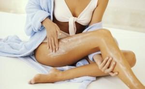 hidratando a pele
