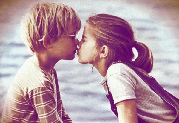 Beije quem lhe faz bem, quem você ama.