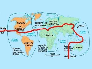 Divisão por norte e sul.