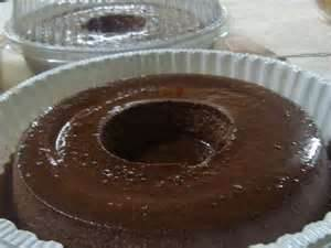 pudim de chocolate