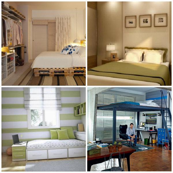Os quarto variam de tamanho. E se por acaso, na sua casa não tiver espaço o suficiente, utilize as dicas dadas, separadas.