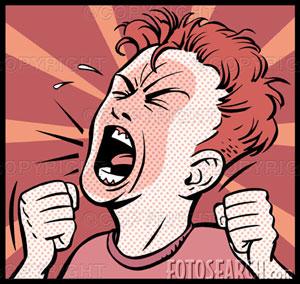 E sempre bom tomar cuidado, com a pessoa que está com raiva, pois ela pode acabar te atacando, como se fosse realmente um cão feroz.