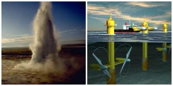 Água e vapor, e ondas e mare.