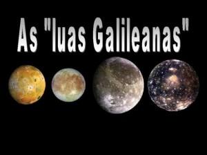 A imagem, demonstra claramente, quais foram as quatro descobertas do cientista Galileu.