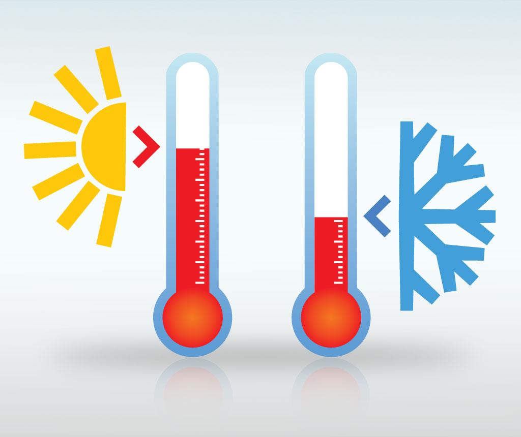 Por meio do termômetro, podemos saber se esta frio ou calor o corpo desejado.
