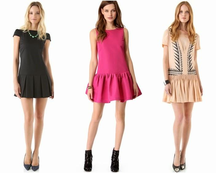 Os vestidos de cintura baixa combinam com sapatos fechados ou rasteirinhas e sapatilhas.